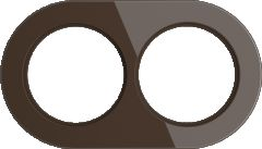 Werkel Рамка на 2 поста (Коричневый) WL21-frame-02