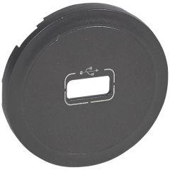 Лицевая панель Legrand Celiane розетки USB графит 067950