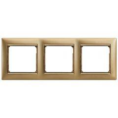 Рамка 3-постовая Legrand Valena матовое золото 770303
