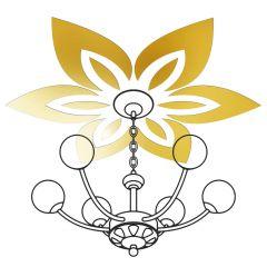 Декор настенно-потолочный Ваша Светлость ЛИЛИЯ-6 золото 2-00401FG Комплект наклеек