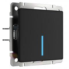 Werkel Сенсорный выключатель одноклавишный с функцией Wi-Fi (черный) W4510608