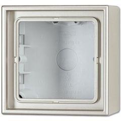Коробка 1-постовая для накладного монтажа Jung LS 990 Edelstahl ES2581A-L