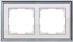 Werkel Рамка Palacio на 2 поста (хром/белый) WL17-Frame-02