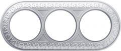 Werkel Рамка Antik Runda на 3 поста (жемчужный) WL70-frame-03