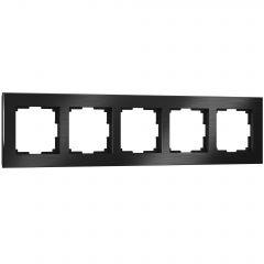 Werkel Рамка на 5 постов (черный алюминий) W0051708