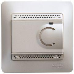 Schneider Electric GLOSSA ТЕРМОСТАТ электронный теплого пола с датчиком, в сборе, ПЕРЛАМУТР