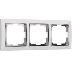Werkel Рамка на 3 поста (белый/хром) W0031901