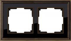 Werkel Рамка Palacio на 2 поста (бронза/черный) WL17-Frame-02
