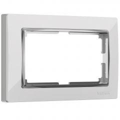 Werkel Рамка для двойной розетки (белый/хром) W0081901