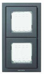 Рамка монтажная ITA 2-постовая ABB Zenit IP55 антрацит N3272 AN