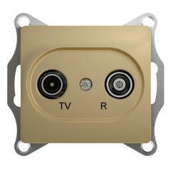 Schneider Electric GLOSSA TV-R РОЗЕТКА проходная 4DB, механизм, ТИТАН