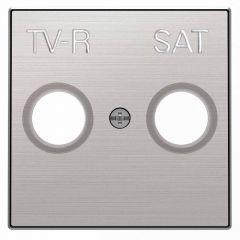 Лицевая панель ABB Sky розетки TV-R-SAT нержавеющая сталь 2CLA855010A1401