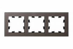 Schneider Electric ATLASDESIGN NATURE 3-постовая РАМКА, ОРГАНИЧЕСКОЕ СТЕКЛО МОККО
