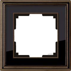 Werkel Рамка Palacio на 1 пост (бронза/черный) WL17-Frame-01