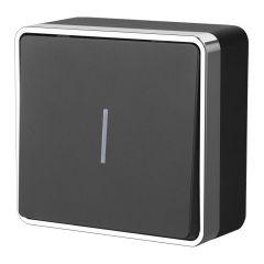 Werkel Выключатель одноклавишный с подсветкой Gallant (черный/хром) W5010135