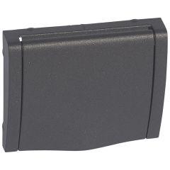 Лицевая панель Legrand Galea Life розетки 2К+З со шторками крышкой темная бронза 771222