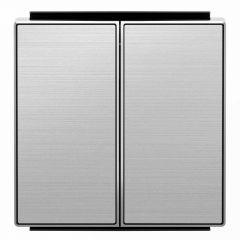 Лицевая панель ABB Sky выключателя двухклавишного нержавеющая сталь 2CLA854200A1401