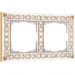 Werkel Рамка на 2 поста (белое золото) W0021523
