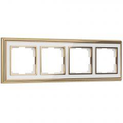 Werkel Рамка на 4 поста (золото/белый) W0041329