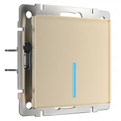 Werkel Сенсорный выключатель одноклавишный с подсветкой (шампань) W4510111