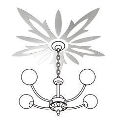 Декор настенно-потолочный Ваша Светлость ВАСИЛЕК-5 хром 2-01901CR Комплект наклеек