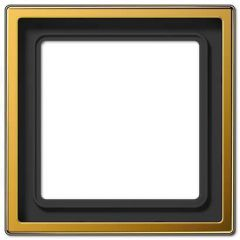 Рамка 1-постовая Jung LS 990 золото LS981GGO