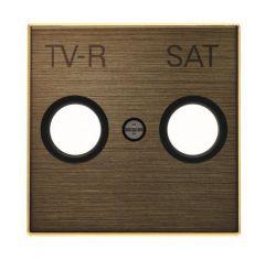 Лицевая панель ABB Sky розетки TV-R-SAT античная латунь 2CLA855010A1201