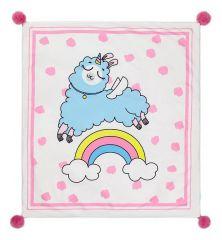 Крошка Я Плед детский (90x100 см) Радужная лама