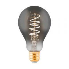 Лампа светодиодная Eglo E27 4W 2000K дымчатая 11869