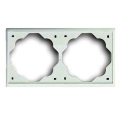Рамка 2-постовая ABB Impuls белый бархат 2CKA001754A4432