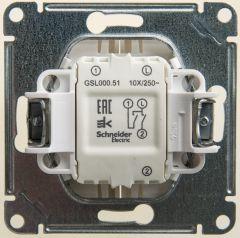 Schneider Electric GLOSSA 2-клавишный ВЫКЛЮЧАТЕЛЬ, сх.5, 10АХ, механизм, ПЕРЛАМУТР