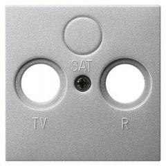 Лицевая панель Legrand Valena розетки TV-FM-SAT алюминий 770186