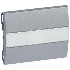 Клавиша Legrand Galea Life выключателя с индикацией держателем этикетки алюминий 771317