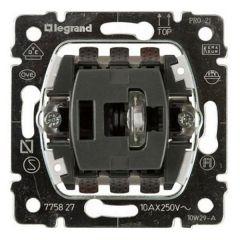 Переключатель одноклавишный промежуточный Legrand Galea Life 10A 250V с подсветкой 775827