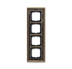Рамка 4-постовая ABB Dynasty латунь античная/черная роспись 2CKA001754A4598