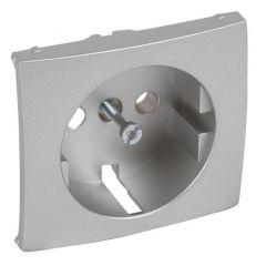 Лицевая панель Legrand Valena розетки 2К+З алюминий 770253