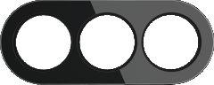 Werkel Рамка на 3 поста (Черный) WL21-frame-03