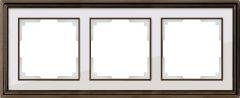 Werkel Рамка Palacio на 3 поста (бронза/белый) WL17-Frame-03