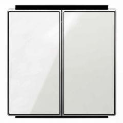 Лицевая панель ABB Sky выключателя двухклавишного стекло белое 2CLA851100A2101
