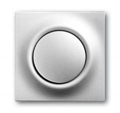 Лицевая панель ABB Impuls выключателя одноклавишного серебристо-алюминиевый 2CKA001753A0067