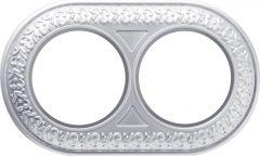 Werkel Рамка Antik Runda на 2 поста (жемчужный) WL70-frame-02