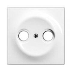 Лицевая панель ABB Impuls розетки TV-R белый бархат 2CKA001753A0168