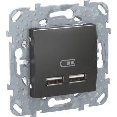 Schneider Electric UNICA TOP РОЗЕТКА USB, 2.1 А, ГРАФИТ