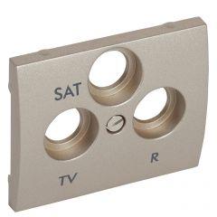 Лицевая панель Legrand Galea Life розетки TV-RD-SAT титановая 771489