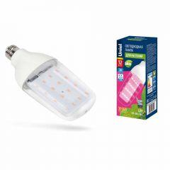 Лампа светодиодная для растений (UL-00007647) Uniel E27 12W прозрачная LED-B82-12W/SPBR/E27/CL PLP33WH