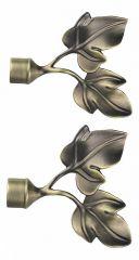 Эскар Набор из 2 наконечников для карнизов Листья