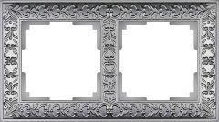 Werkel Рамка на 2 поста (матовый хром) WL07-Frame-02