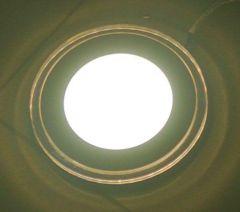 Светильник LFlash LPR 8W/1W встр. LED*8W 5000К + LED*1W 2700K d120mm белый со стеклом