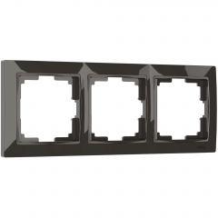 Werkel Рамка на 3 поста (серо-коричневый, basic) W0032007