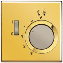 Регулятор теплого пола 10А Jung LS 990 блеск золота FTRGO231